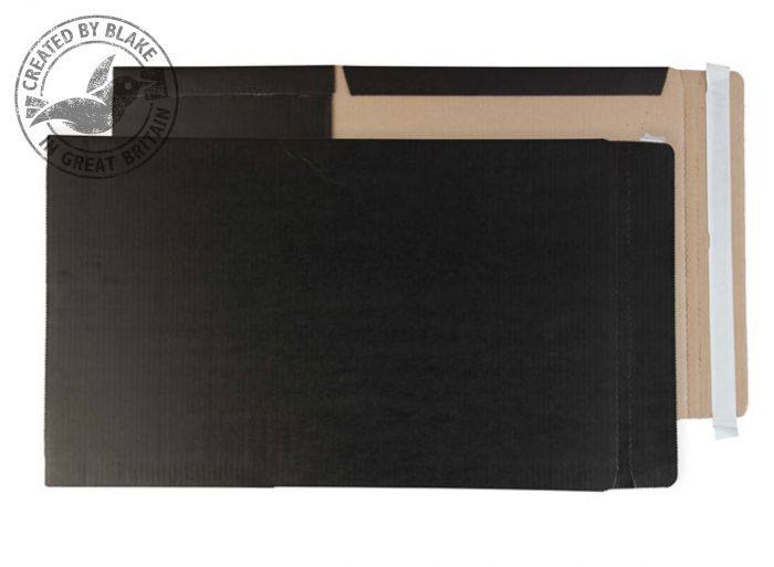BWC5 + Blake Purely Packaging Black Peel & Seal Book Wrap 241X178X50mm Pack 25 Code Bwc5 + 3P- BWC5 +