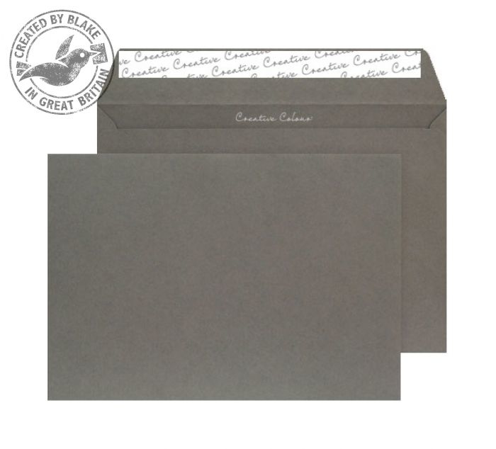 424 Blake Creative Colour Graphite Grey Peel & Seal Wallet 229X324mm 120Gm2 Pack 250 Code 424 3P- 424