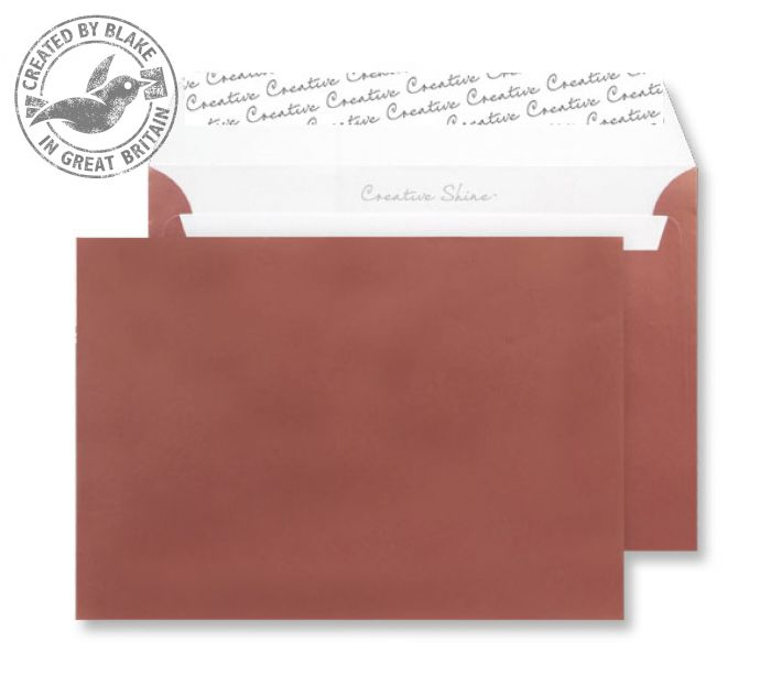 331 Blake Creative Shine Metallic Bronze Peel & Seal Wallet 162X229mm 130Gm2 Pack 500 Code 331 3P- 331