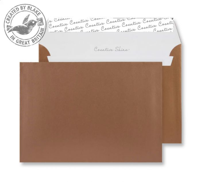 332 Blake Creative Shine Metallic Copper Peel & Seal Wallet 162X229mm 130Gm2 Pack 500 Code 332 3P- 332