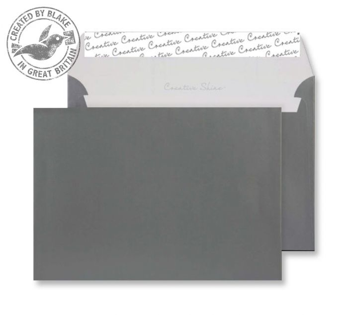 333 Blake Creative Shine Metallic Gunmetal Peel & Seal Wallet 162X229mm 130Gm2 Pack 500 Code 333 3P- 333