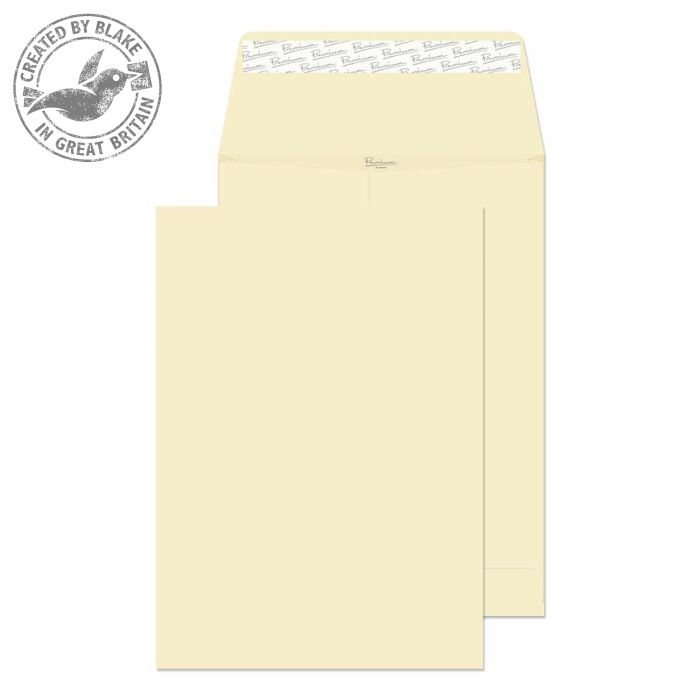 9400 Blake Premium Business Cream Wove Peel & Seal Gusset Pocket 324X229X25mm 140G Pk125 Code 9400 3P- 9400