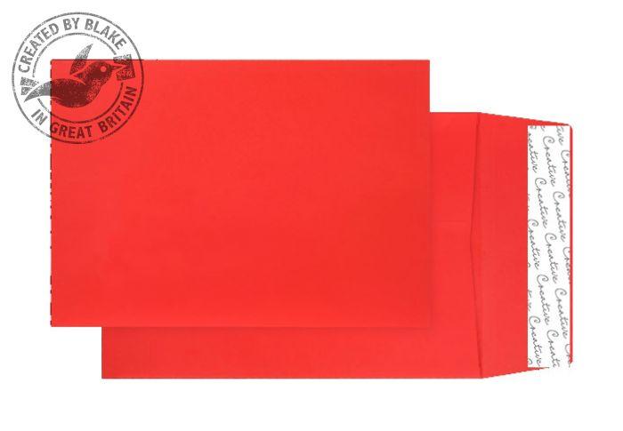 6060 Blake Creative Colour Pillar Box Red Peel & Seal Gusset Pocket 229X162X25mm 140G Pk125 Code 6060 3P- 6060