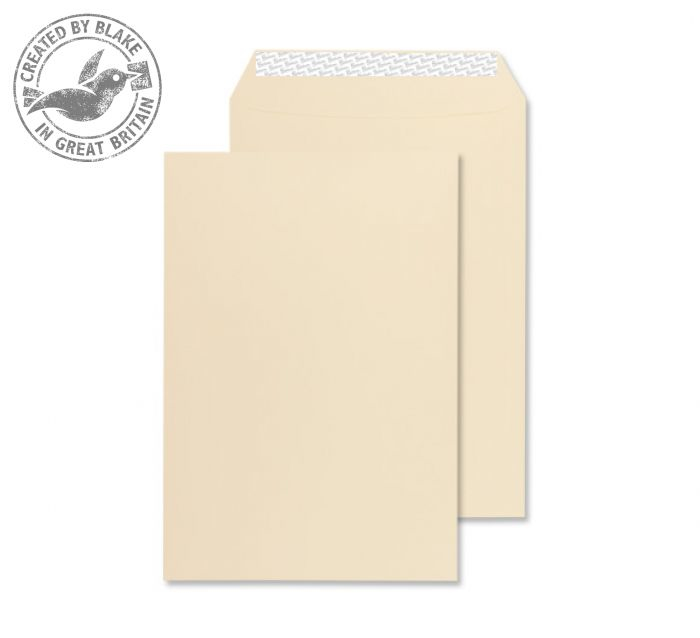 6400 Blake Premium Business Cream Wove Peel & Seal Gusset Pocket 229X162X25mm 140G Pk125 Code 6400 3P- 6400