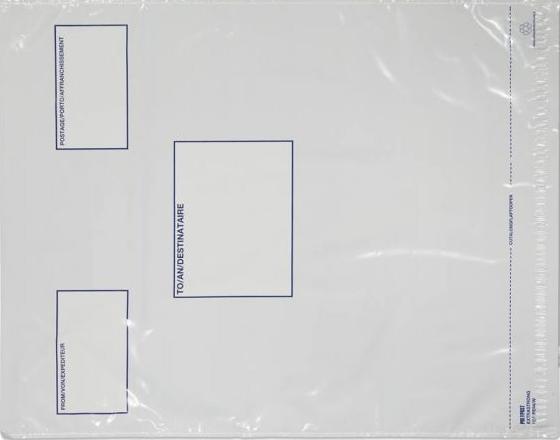 PE94/W Blake Purely Packaging White Peel & Seal Polythene Pocket 525X450mm 70Mu Pack 500 Code Pe94/W 3P- PE94/W