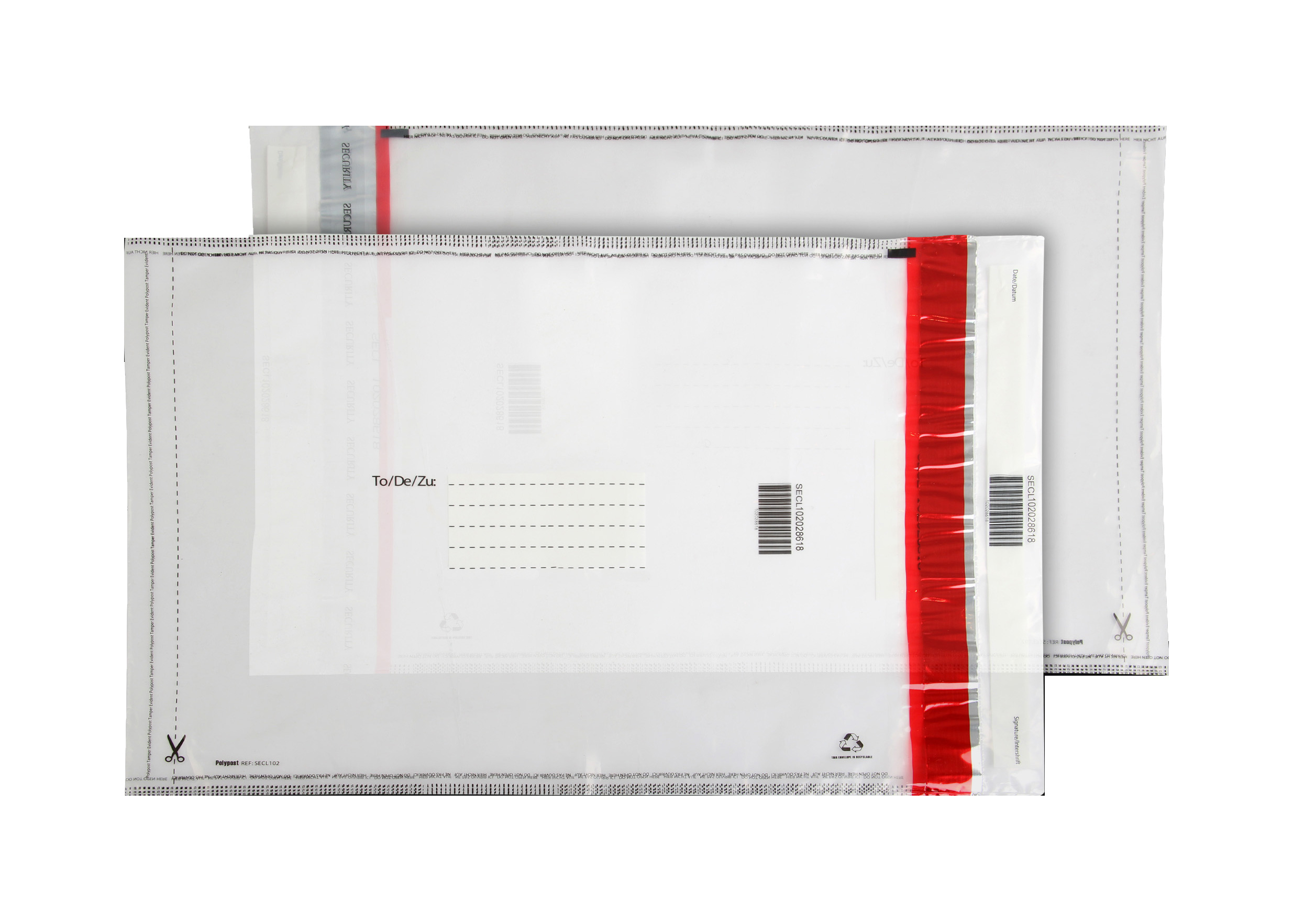 SECL102 Blake Purely Packaging Clear Peel & Seal Polythene Pocket 430X330mm 70Mu Pack 500 Code Secl102 3P- SECL102