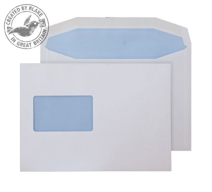 5804CBC Blake Purely Everyday White Window Gummed Mailer 162X235mm 90Gm2 Pack 500 Code 5804Cbc 3P- 5804CBC