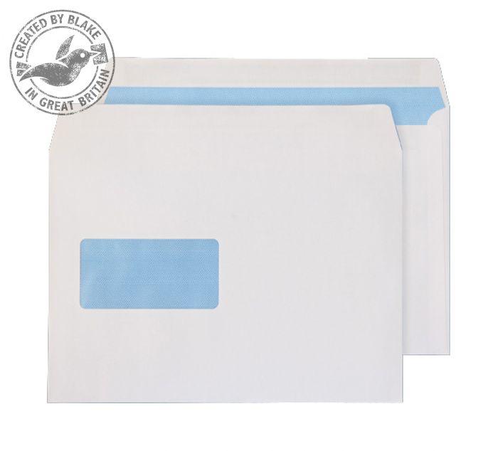 6655FU Blake Purely Everyday White Window Self Seal Wallet 162X229mm 100Gm2 Pack 500 Code 6655Fu 3P- 6655FU