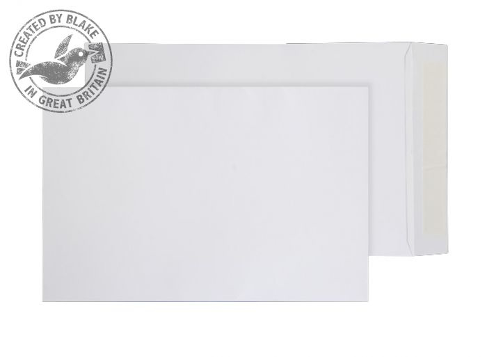 1086 Blake Purely Everyday White Peel & Seal Pocket 280X185mm 100Gm2 Pack 250 Code 1086 3P- 1086