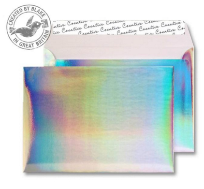 43EF390 Blake Creative Shine Shimmering Rainbow Peel & Seal Wallet 162X229mm 140Gm2 Pack 10 Code 43Ef390 3P- 43EF390
