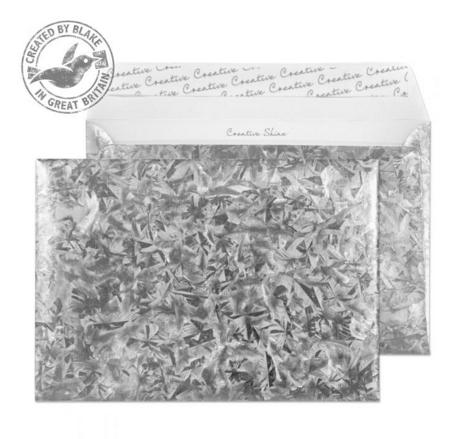 43EF392 Blake Creative Shine Galvanised Steel Peel & Seal Wallet 162X229mm 140Gm2 Pack 10 Code 43Ef392 3P- 43EF392