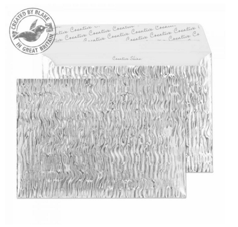 43EF393 Blake Creative Shine Metal Ripple Peel & Seal Wallet 162X229mm 140Gm2 Pack 10 Code 43Ef393 3P- 43EF393