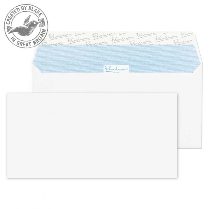 32215 Blake Premium Office Ultra White Wove Peel & Seal Wallet 110X220mm 120Gm2 Pack 500 Code 32215 3P- 32215