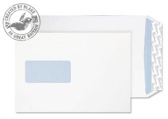 35216 Blake Premium Office Ultra White Wove Window P&S Gusset Pocket 229X162X25 120G Pk125 Code 35216 3P- 35216