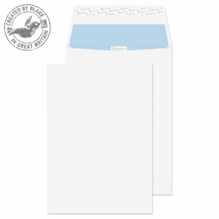 37115 Blake Premium Office Ultra White Wove Peel & Seal Gusset Pocket 324X229X25 140G Pk100 Code 37115 3P- 37115