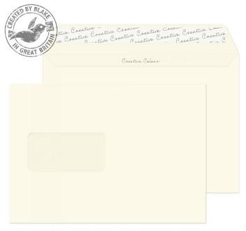 352W Blake Creative Colour Soft Ivory Window Peel & Seal Wallet 162X229mm 120Gm2 Pack 500 Code 352W 3P- 352W