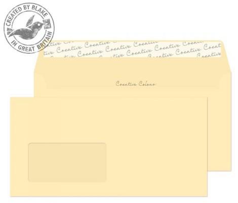 253W Blake Creative Colour Clotted Cream Window Peel & Seal Wallet 114X229mm 120Gm2 Pack 500 Code 253W 3P- 253W