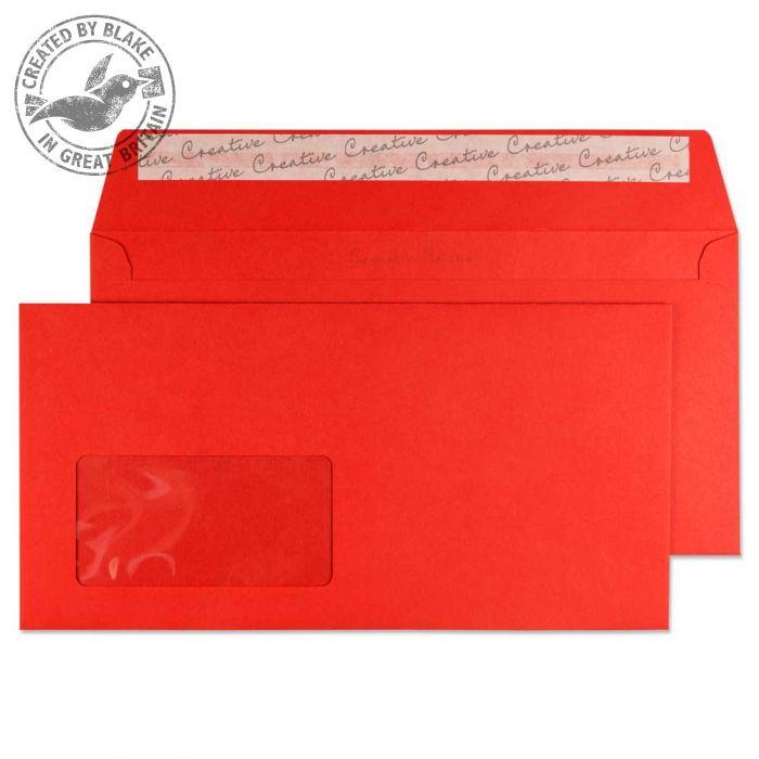 206W Blake Creative Colour Pillar Box Red Window Peel & Seal Wallet 114X229mm 120G Pk500 Code 206W 3P- 206W