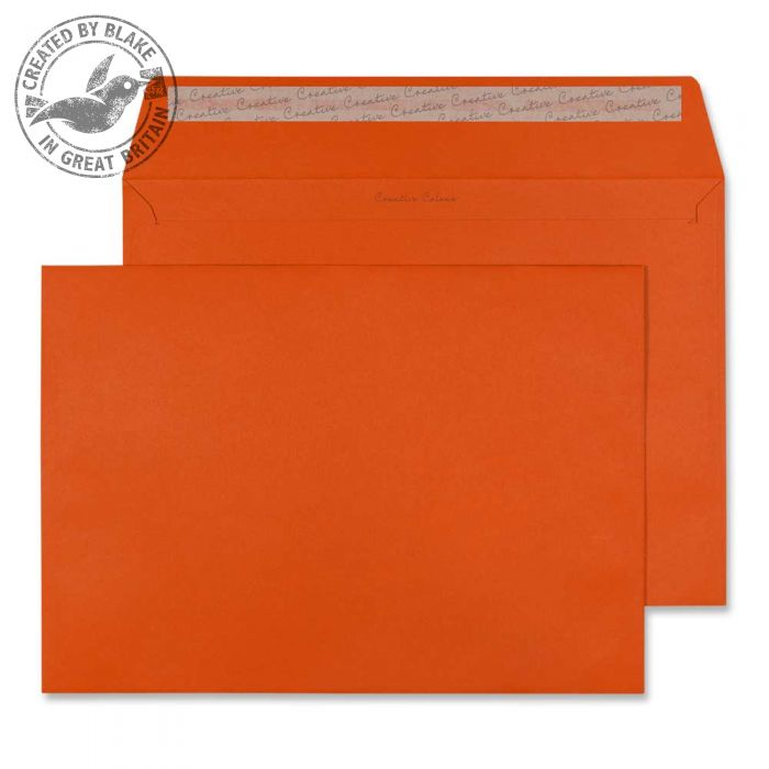 428 Blake Creative Colour Marmalade Orange Peel & Seal Wallet 229X324mm 120Gm2 Pack 250 Code 428 3P- 428