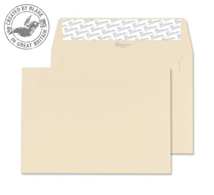 64155 Blake Premium Business Cream Wove Peel & Seal Wallet 114X162mm 120Gm2 Pack 50 Code 64155 3P- 64155