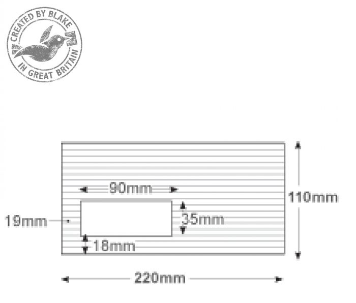 39265 Blake Premium Business High White Laid Window Peel & Seal Wallet 110X220mm 120G Pk50 Code 39265 3P- 39265