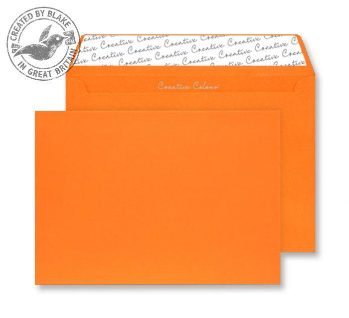 45305 Blake Creative Colour Pumpkin Orange Peel & Seal Wallet 162X229mm 120Gm2 Pack 25 Code 45305 3P- 45305