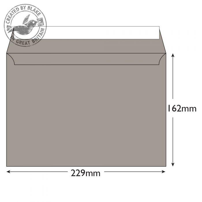 45325 Blake Creative Colour Storm Grey Peel & Seal Wallet 162X229mm 120Gm2 Pack 25 Code 45325 3P- 45325