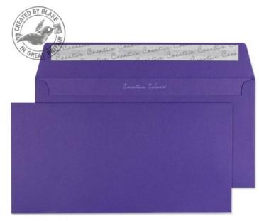 25247 Blake Creative Colour Blackcurrant Peel & Seal Wallet 114X229mm 120Gm2 Pack 25 Code 25247 3P- 25247