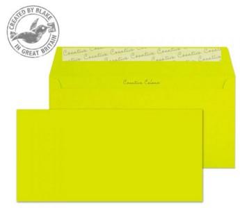 25241 Blake Creative Colour Acid Green Peel & Seal Wallet 114X229mm 120Gm2 Pack 25 Code 25241 3P- 25241