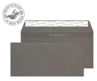 25224 Blake Creative Colour Graphite Grey Peel & Seal Wallet 114X229mm 120Gm2 Pack 25 Code 25224 3P- 25224