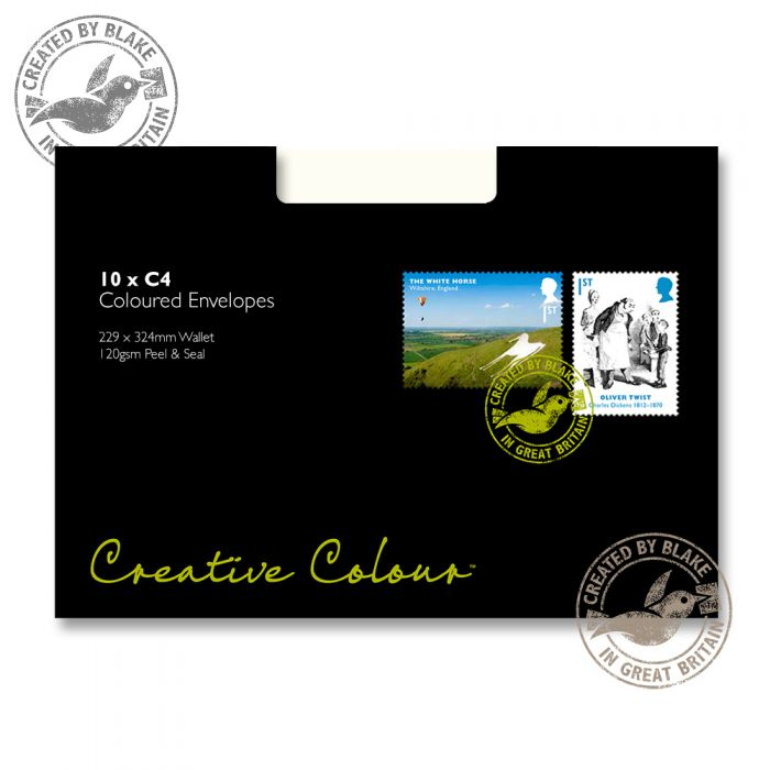 63951 Blake Creative Colour Milk White Peel & Seal Pocket 324X229mm 120Gm2 Pack 10 Code 63951 3P- 63951