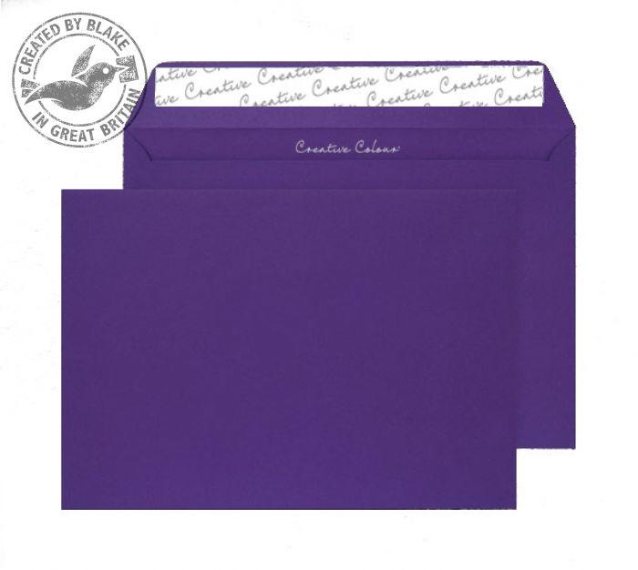 63447 Blake Creative Colour Blackcurrant Peel & Seal Wallet 229X324mm 120Gm2 Pack 10 Code 63447 3P- 63447