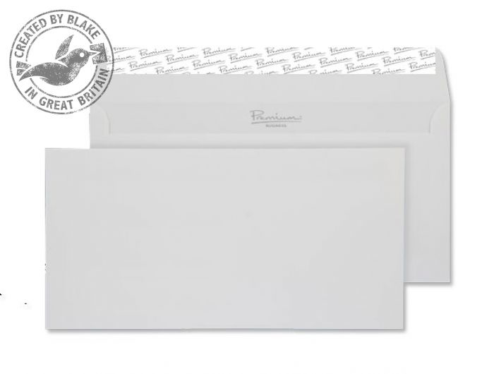 37255 Blake Premium Business Brilliant White Wove Peel & Seal Wallet 110X220mm 120G Pk50 Code 37255 3P- 37255