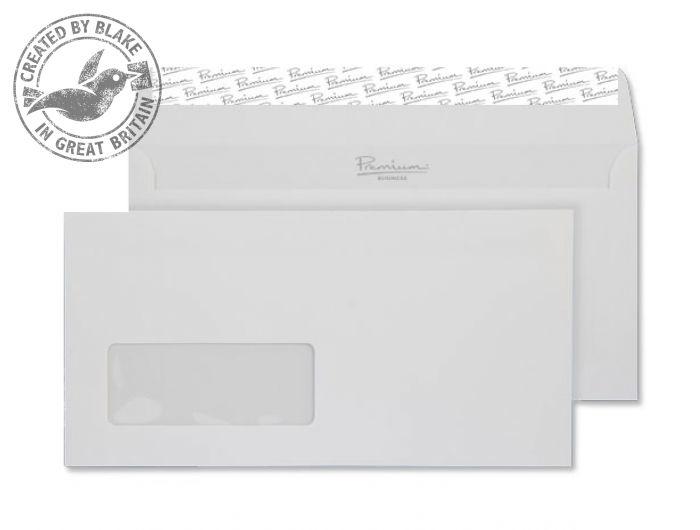37265 Blake Premium Business Brilliant White Wove Window P&S Wallet 110X220 120G Pk50 Code 37265 3P- 37265