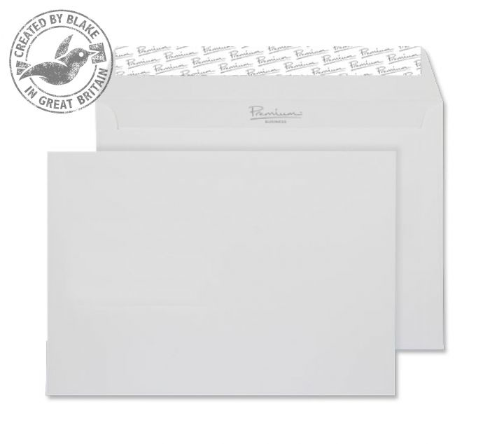 37455 Blake Premium Business Brilliant White Wove Peel & Seal Wallet 162X229mm 120G Pk50 Code 37455 3P- 37455
