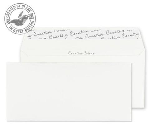255 Blake Creative Colour Chalk White Peel & Seal Wallet 114X229mm 120Gm2 Pack 500 Code 255 3P- 255