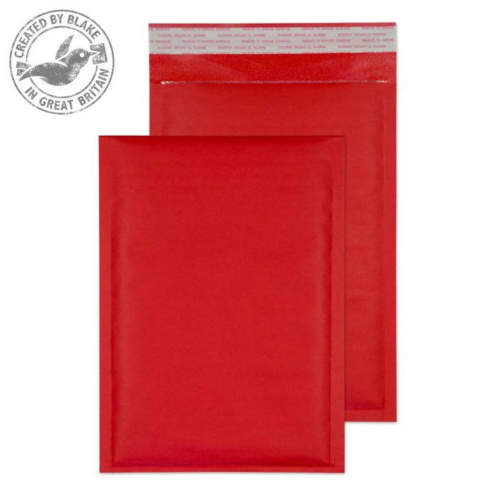 KRD260 Blake Purely Packaging Red Peel & Seal Padded Bubble 260X180mm 110Gm2 Pack 100 Code Krd260 3P- KRD260