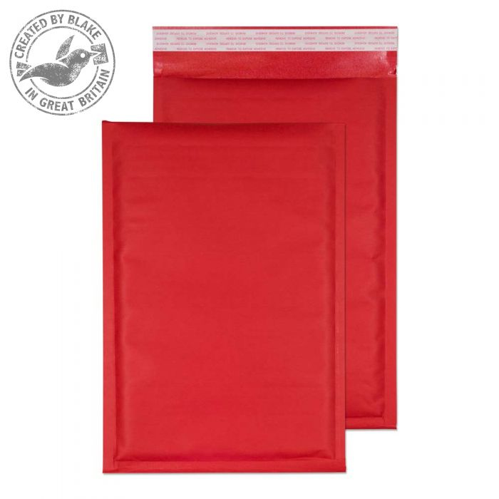 KRD335 Blake Purely Packaging Red Peel & Seal Padded Bubble 335X230mm 110Gm2 Pack 100 Code Krd335 3P- KRD335