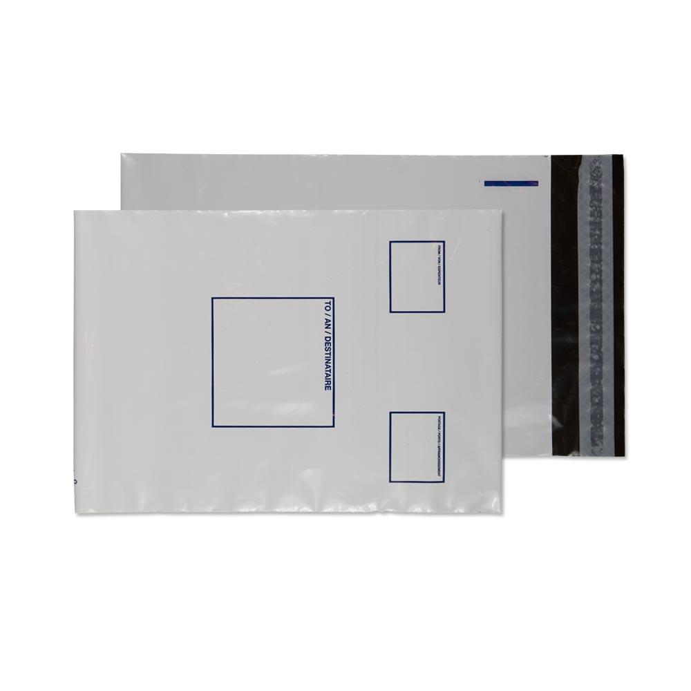 PE24/W Blake Purely Packaging White Peel & Seal Polythene Pocket 165X238mm 65Mu Pack 1000 Code Pe24/W 3P- PE24/W