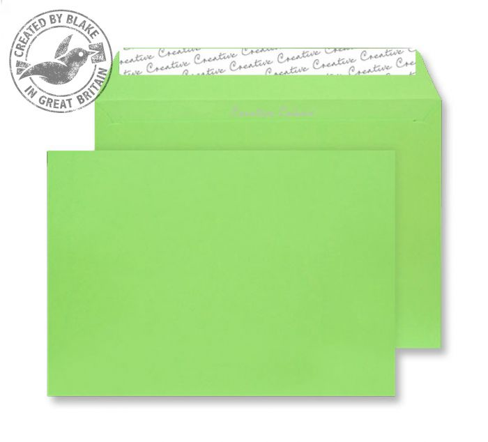 407 Blake Creative Colour Lime Green Peel & Seal Wallet 229X324mm 120Gm2 Pack 250 Code 407 3P- 407