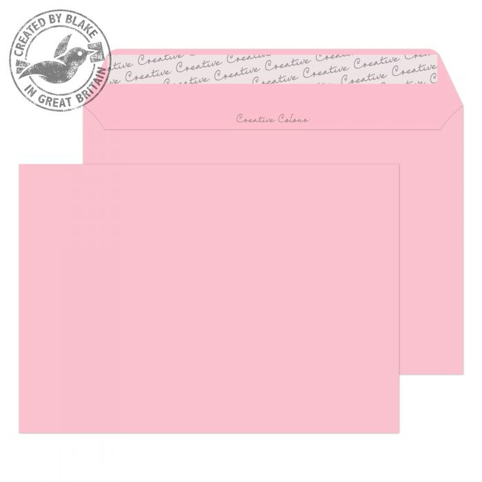 301 Blake Creative Colour Baby Pink Peel & Seal Wallet 162X229mm 120Gm2 Pack 500 Code 301 3P- 301