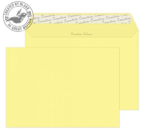 316 Blake Creative Colour Lemon Yellow Peel & Seal Wallet 162X229mm 120Gm2 Pack 500 Code 316 3P- 316