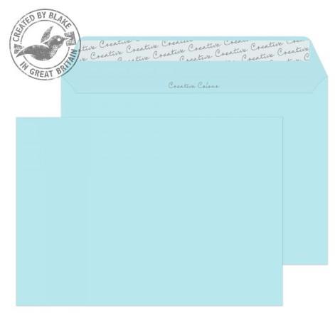 318 Blake Creative Colour Cotton Blue Peel & Seal Wallet 162X229mm 120Gm2 Pack 500 Code 318 3P- 318
