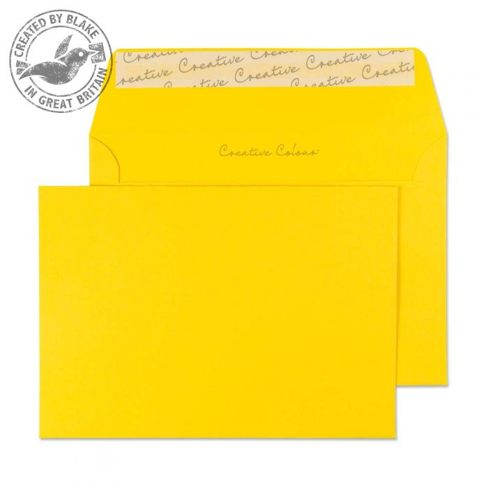 104 Blake Creative Colour Egg Yellow Peel & Seal Wallet 114X162mm 120Gm2 Pack 500 Code 104 3P- 104