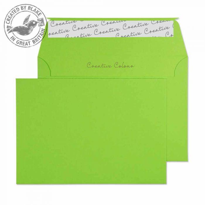 107 Blake Creative Colour Lime Green Peel & Seal Wallet 114X162mm 120Gm2 Pack 500 Code 107 3P- 107