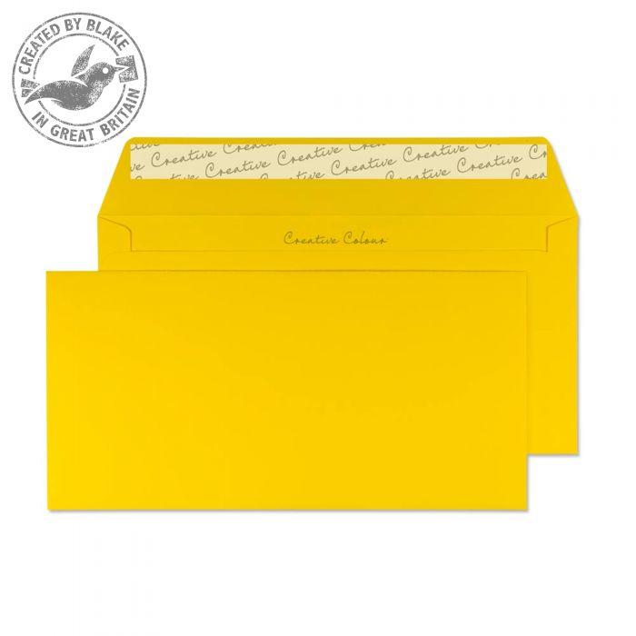 204 Blake Creative Colour Egg Yellow Peel & Seal Wallet 114X229mm 120Gm2 Pack 500 Code 204 3P- 204