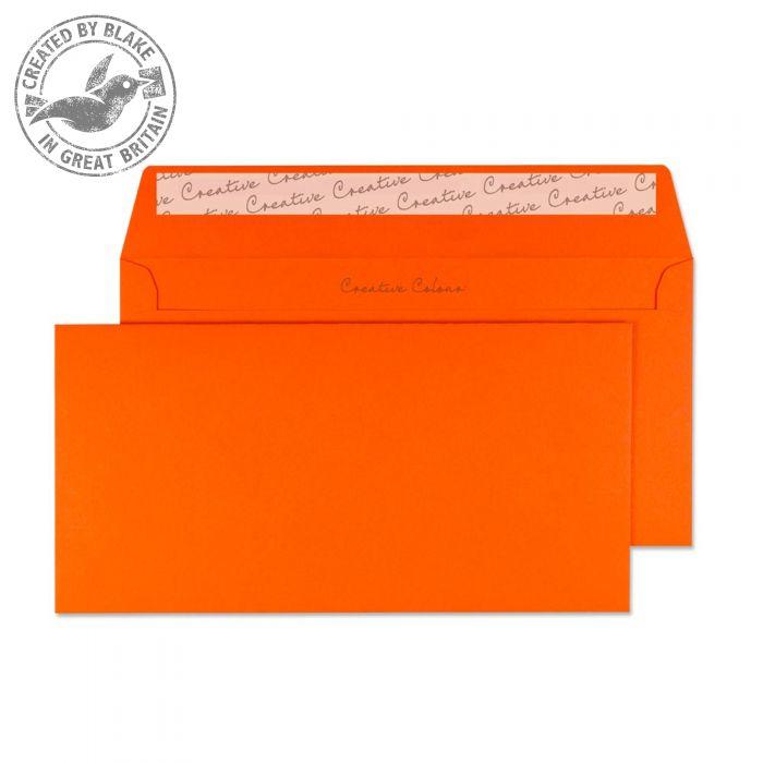 205 Blake Creative Colour Pumpkin Orange Peel & Seal Wallet 114X229mm 120Gm2 Pack 500 Code 205 3P- 205
