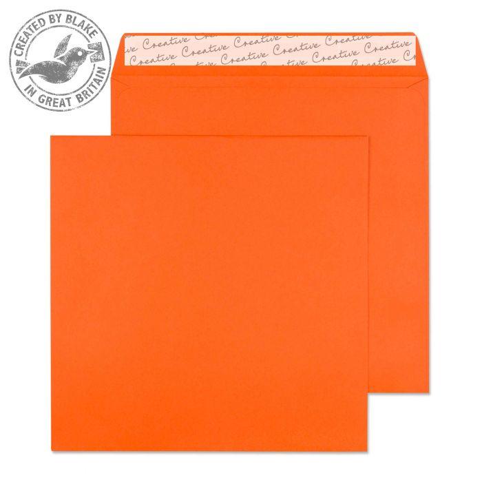605 Blake Creative Colour Pumpkin Orange Peel & Seal Square Wallet 160X160mm 120Gm2 Pack 500 Code 605 3P- 605