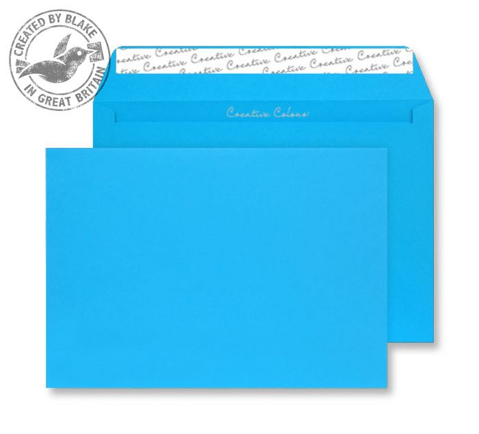 410 Blake Creative Colour Caribbean Blue Peel & Seal Wallet 229X324mm 120Gm2 Pack 250 Code 410 3P- 410