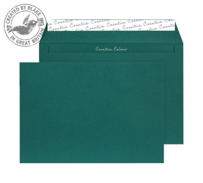421 Blake Creative Colour British Racing Green Peel & Seal Wallet 229X324mm 120Gm2 Pack 250 Code 421 3P- 421